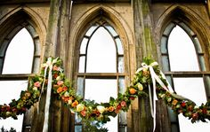 10. Ceremony - Flower Swags - Beautiful!