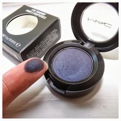 MAC Contrast Shadow. Gorgeous purple toned blue with shimmer(not those annoying chunky glitters). Looks beautiful on brown eyes especially and is absolutely beautiful!!!