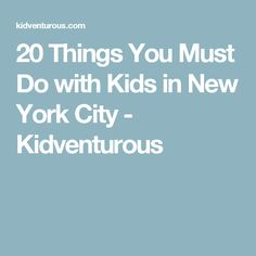 Top places to visit in nyc with kids from the statue of for Things must see in new york