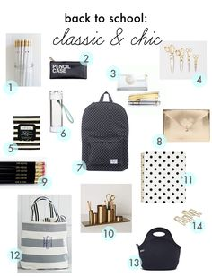 classic & chic back to school finds