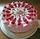 Erdbeertorte mit zarter Joghurtcreme 7 Strawberry cake with delicate yoghurt cream 7 Pie Recipes, Cookie Recipes, Dessert Recipes, Dessert Food, Cheesecake Recipes, Strawberry Cakes, Strawberry Recipes, Food Cakes, No Bake Cake