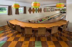 1950's Bowling Alley reconstructed in a MINNESOTA home's basement ...lots more pics in article ...by Fusion Bowling