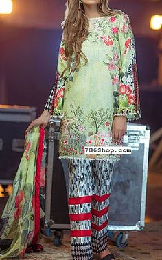 Light Green Lawn Suit   Buy Rungrez Eid Collection Pakistani Dresses and Clothing online in USA, UK