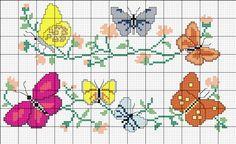 ponto cruz borboletas