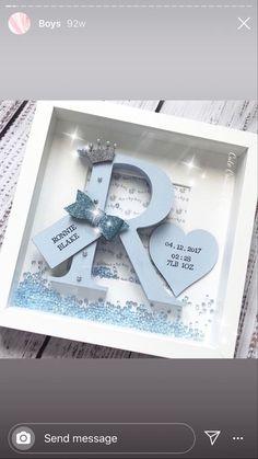 Baby Box Frame Ideas, Box Frame Ideas Diy Crafts, Box Frame Art, Baby Frame, Box Frames, Flower Shadow Box, Diy Shadow Box, Crafts For Boys, Baby Crafts