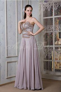 Pearlpink Asymmetrical Elegant, Unique Evening Dresses (Chiffon, Floor-length, Dropped)