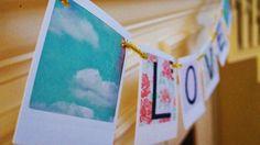 {Jazzy Little Things} Polaroid Valentine's Banner!  #polaroid #instax #banner #holidays #valentines #crafts