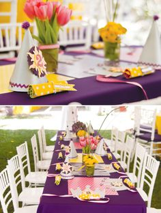 tangled-birthday-party-tables-and-place-settings. Wow some people have more money than they know what to do with. I think they should give it to me:)