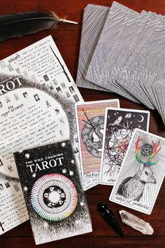Got my very own The Wild Unknown tarot deck for my b-day (thanks to my lovely daughters :-)) Absolutely love it!!!