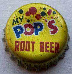 My Pop's Root Beer, bottle cap | Chokola Beverage Co., Wilkes-Barre, Pennsylvania USA