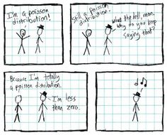 xkcd 11 - Poisson distributions have no value over negative numbers