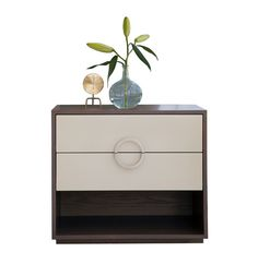 Willow Nightstand Transitional, MidCentury Modern, Lacquer, Nightstands Bedside Table by Studio William Hefner Cabinet Furniture, Table Furniture, Bedroom Furniture, Furniture Design, Furniture Storage, Accent Chests And Cabinets, Willow Furniture, Bedside Table Design, Bedside Tables
