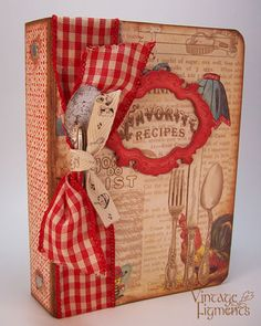 Last month I had the pleasure of assisting Vicki Chrisman with her Vintage Recipe Book workshop sponsored by Crafty Secrets at the Great A...