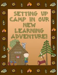 Back to School (Camping Theme) Trekking Into a New Learning Adventure. ($)