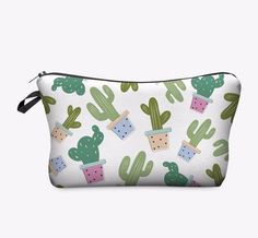 Cactus Road Trip Bag is the perfect size organizing your makeup in your purse or backpack. - Soft Poly Material - Zipper Close - Eight Inches Long - Five Inches Tall - We carry cactus pins, backpacks,