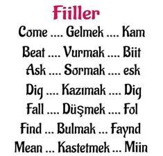 Turkish Lessons, Learn Turkish Language, European Languages, Language Lessons, Learn English Words, Idioms, English Vocabulary, Music Quotes, Lyrics