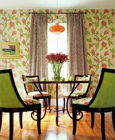 love it all...from the floor to the drapes....and I'm crazy about those chairs!!