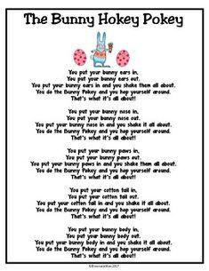 The Bunny Hokey Pokey Song/Poem Freebie.Get kids up and moving for fun Easter song/poem. Put in Poetry Binders! April Preschool, Preschool Music, Preschool Activities, Spring Songs For Preschool, Spring Activities, Kindergarten Music, Therapy Activities, Kids Crafts, Easter Activities For Preschool