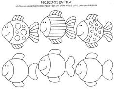 Risultati immagini per pracovní listy zima Applique Patterns, Applique Designs, Preschool Worksheets, Preschool Crafts, Colouring Pages, Coloring Sheets, Rainbow Fish Template, Sea Theme, Ocean Themes