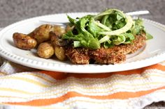 Crusty Dijon Chicken with Fennel Salad This thin and crispy chicken ...