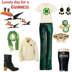 Fashionably Irish! A delightful entry for the St. Patrick's Day fashion mission. #style #fashion #contest