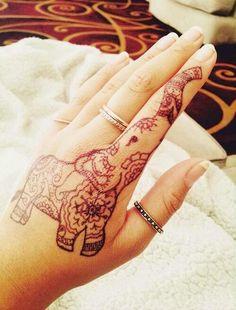 Elephant Mehendi. Adorable!