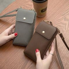 Vintage PU Leather Universal Shoulder Phone Bag For iPhone Samsung Huawei Xiaomi is Worth Buying - NewChic Mobile
