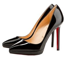 Christian Louboutin Pigalle Plato 120 Pointed Toe Pumps Black