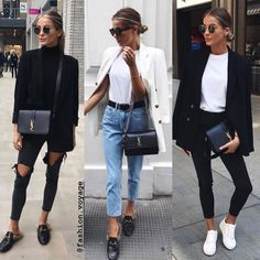 Casual Winter Outfits Ideas for 2019 Classy Outfits, Fall Outfits, Casual Outfits, Fashion Outfits, Womens Fashion, Fashion Trends, Fashion Clothes, White Blazer Outfits, Simple Outfits
