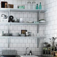 Vita kakelkplattor rak, rundat vågigt matt och blanka | Stonefactory.se