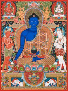 Medicine Buddha by Mukti Singh Thapa at Mahakala Fine Arts