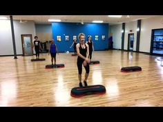 50 Minute Basic Level Choreo Step Workout Brace yourself. There is a lot of break down here jam packed into this 50 minute basic step workout. Step Aerobic Workout, Workout Cardio, Aerobics Workout, Workout Fitness, Fitness Diet, Health Fitness, Gym Workout For Beginners, Workout Videos, Weight Loss Meals