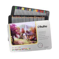 Ohuhu 48 Lapices de Colores, Con Caja de Hierro, Estaño del 48: Amazon.es: Juguetes y juegos