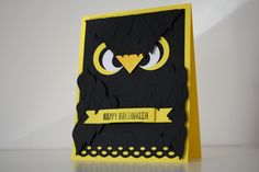Scrapbooking carte Hibou/chouette Halloween