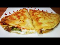 Chicken Crepe with Mozzarella Cheese Chicken Crepes, Mozzarella, Lasagna, Sandwiches, Food And Drink, Cheese, Ramadan, Cooking, Ethnic Recipes