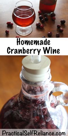 Making your own cranberry wine is easy using fresh fruit or cranberry juice. This recipe makes one gallon of cranberry wine but can be increased or decreased based on your needs. Homemade Cranberry Wine Recipe, Homemade Wine Recipes, Homemade Alcohol, Homemade Liquor, Homemade Whiskey, Homemade Tea, Wine And Liquor, Wine Drinks, Beverages