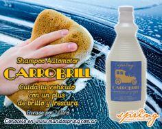 Shampoo automotor CARROBRILL. Listo para usar. Envase por 1 litro.