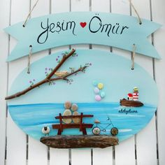 Rock Crafts, Jar Crafts, Bottle Crafts, Diy And Crafts, Arts And Crafts, Wood Slice Crafts, Cement Crafts, Stone Painting, Painting On Wood