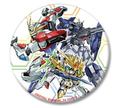 Gundam Build Fighters Try 1.25'' Button - Gundam Group @Archonia_US