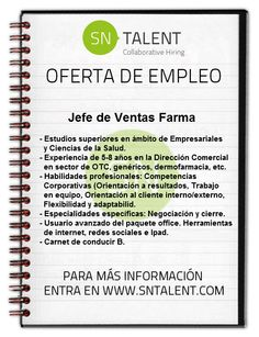 #Jefe de #Ventas #Farma