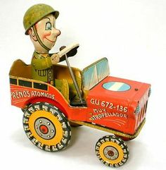 Tin Wind Up Toys | ... -SPANISH-UNIQUE-ART-G-I-JOE-AND-HIS-JOUNCING-JEEP-TIN-WIND-UP-TOY