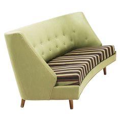 Interesting Shaped Sofa In Original Condition, ca.1960's