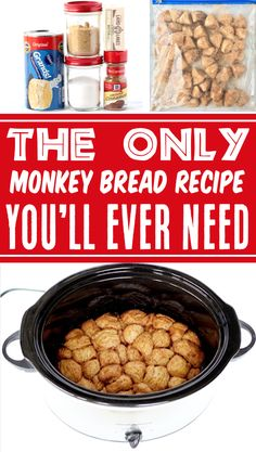 Monkey Bread with Canned Biscuits Easy Crock Pot Recipe! This dreamy cinnamon sugar ooey-gooey treat is the tastiest way to end any day... or an epic way to kick off your weekend brunch! Plus, with just 5 ingredients it's SO simple to make! Go grab the recipe and give it a try this week! Monkey Bread Crockpot, Crock Pot Bread, Crock Pot Cooking, Brunch Recipes, Fall Recipes, Bread Recipes, Dog Food Recipes, Delicious Crockpot Recipes, Canned Biscuits