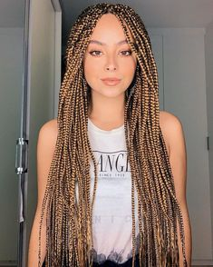 Top 60 All the Rage Looks with Long Box Braids - Hairstyles Trends Short Box Braids, Blonde Box Braids, Jumbo Box Braids, Black Braids, White Girl Braids, Afro Braids, African Braids, Twist Braids, Cornrows
