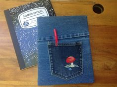 Blue Jean covered COMPOSITION NOTEBOOK  Back by CreativeSewingSue, $16.95