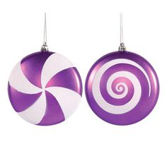 Just found Purple Candy Swirl Ornaments - 4.75 Inch: 4-Piece Box @CandyWarehouse, Thanks for the #CandyAssist!
