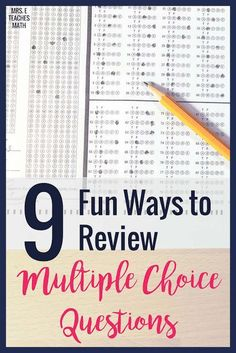 These fun activities for practicing multiple choice questions will help prep your high school students for state testing.  Check out these strategies so to keep your students engaged and focused while preparing for their end of course tests and final exams! FREE DOWNLOAD INCLUDED!