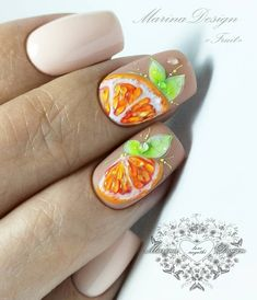 Want some ideas for wedding nail polish designs? This article is a collection of our favorite nail polish designs for your special day. Nail Art Designs, Fruit Nail Designs, Nail Designs Spring, Simple Nail Designs, Nail Polish Designs, Design Art, Yellow Nails Design, Yellow Nail Art, Cute Nails