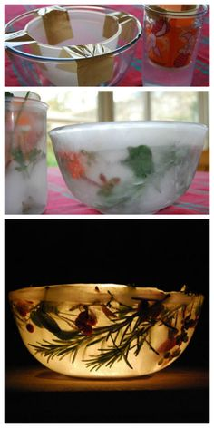 How to make Christmas ice lanterns #Christmas #GermanChristmasStore #Xmas
