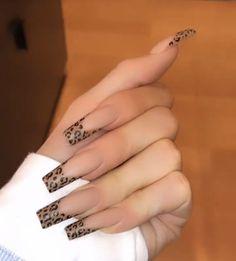 111 spring nail art designs for women 3 Edgy Nails, Aycrlic Nails, Stylish Nails, Trendy Nails, Swag Nails, Kylie Nails, Nail Manicure, Coffin Nails, Cheetah Nails